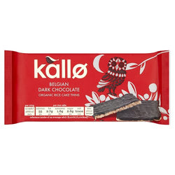 kallo Belgian Dark Chocolate Organic Rice Cake Thins