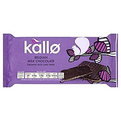 kallo Belgian Milk Chocolate Organic Rice Cake Thins