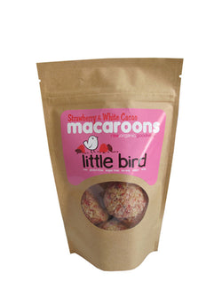 Little Bird Macaroons - Strawberry & White Cacoa