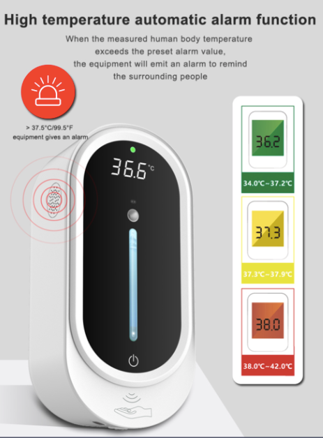 Multifunctional soap dispenser+ forehead thermometer