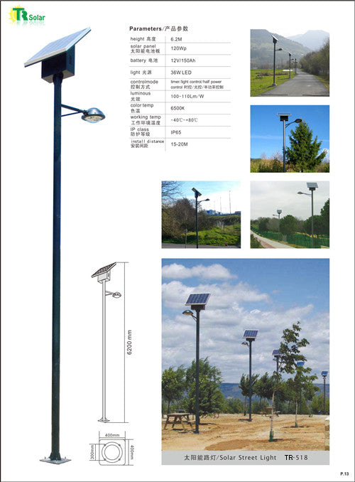 Commercial Solar LED Parking Lot Lighting