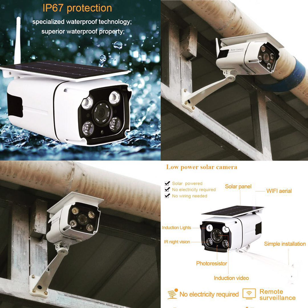 All-in-one Wireless  2.0MP 1080P IP wifi / 4G Solar Powered Security Camera