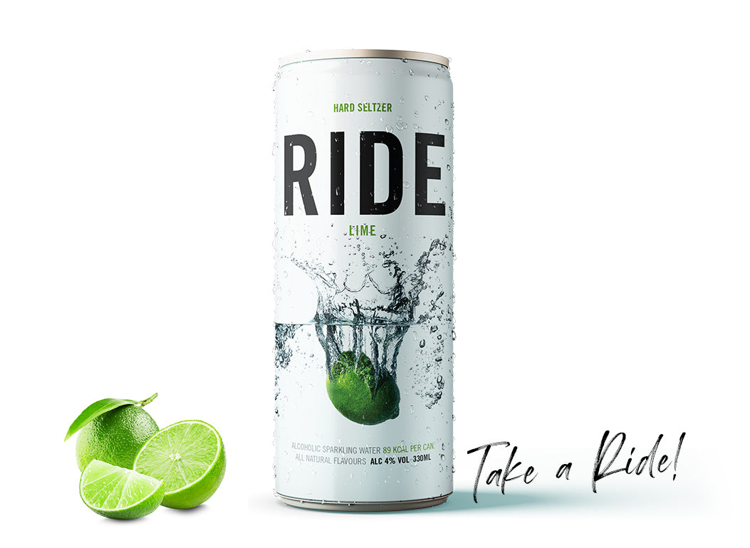 Case of 12 x 330ml Ride Persian Lime 4%