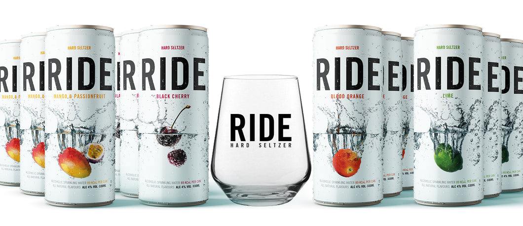 Mixed Case of 12 x 330ml Ride - 4% and a Ride Glass