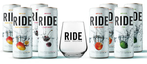 Mixed Case of 8 x 330ml Ride - 4% and a Ride Glass