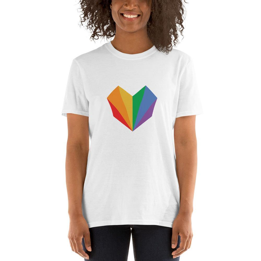 Gay Flag Heart T-Shirt