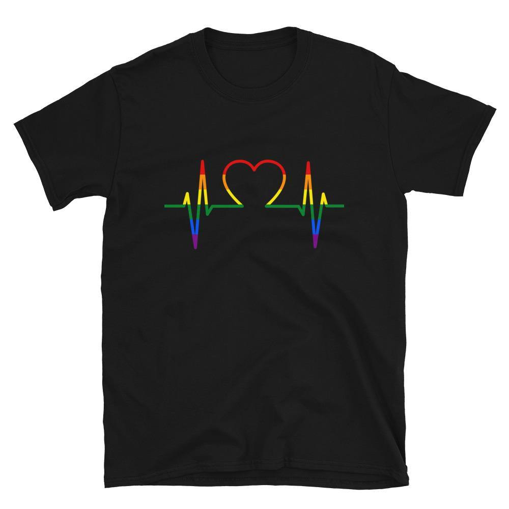 Heartbeat Gay T-Shirt - Queerr