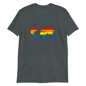 Weltkarte Gay Flagge T-Shirt