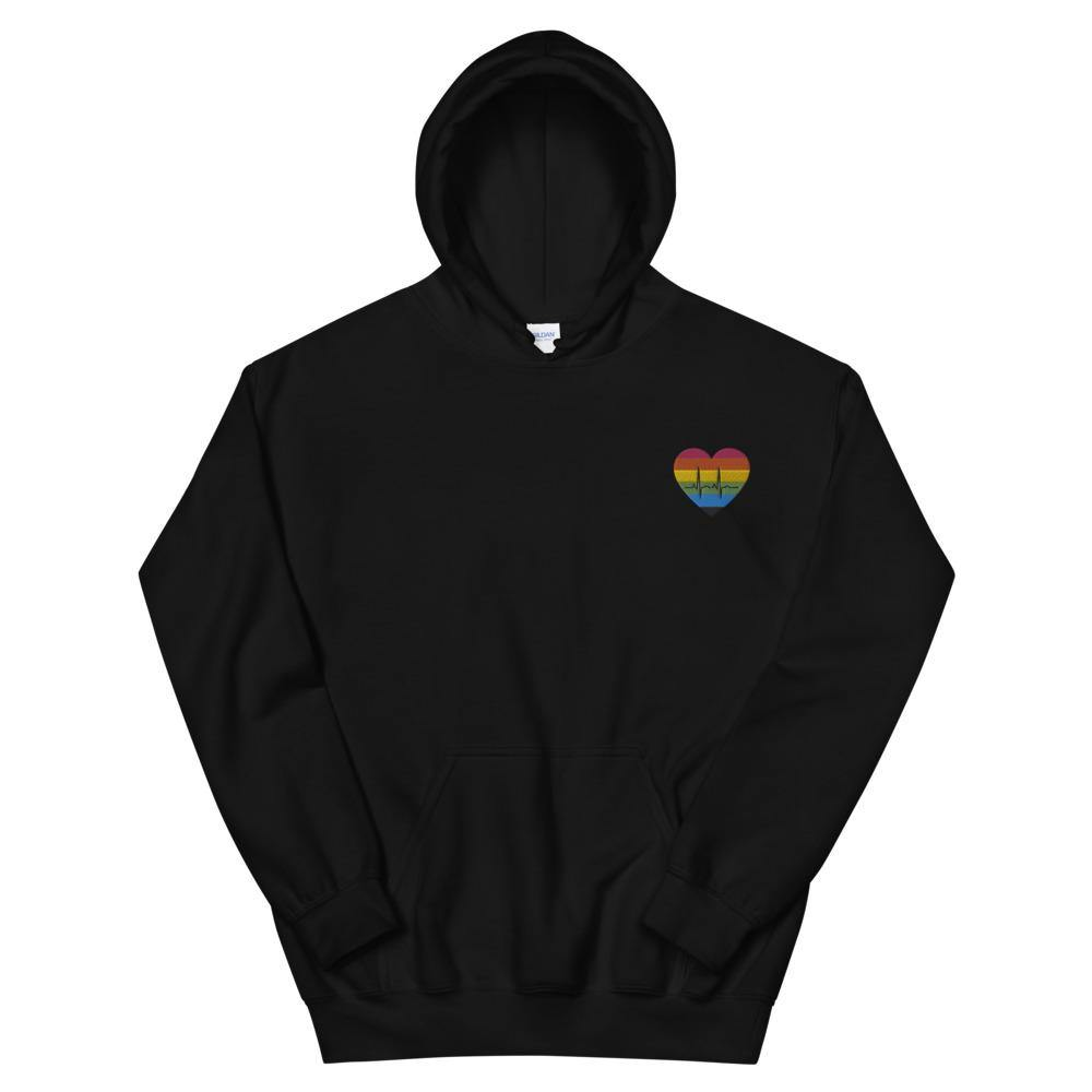 Heartbeat Gay Embroidered Hoodie