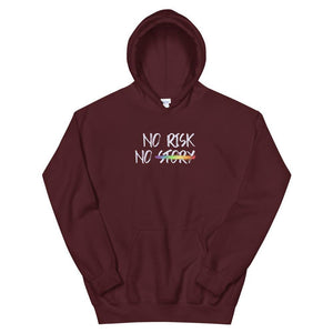 No Risk No Story Hoodie - Queerr
