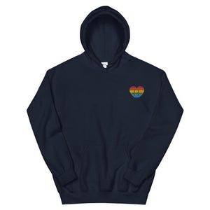 Heartbeat Gay Embroidered Hoodie - Queerr