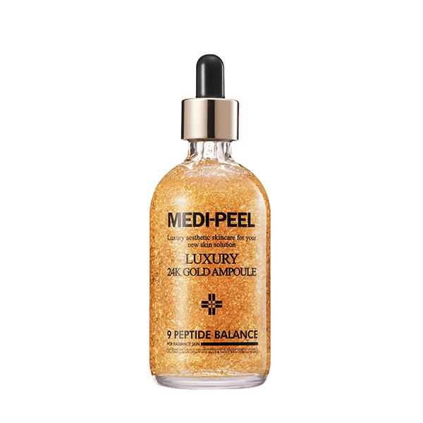 MEDI-PEEL LUXURY 24K GOLD AMPOULE 3.38 oz ( 럭셔리 24K 골드 앰플 100 ml)
