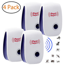 Load image into Gallery viewer, 4Pcs Pest Reject Electronic Ultrasonic Pest Repellent US Plug (50% off ENDS SOON!)