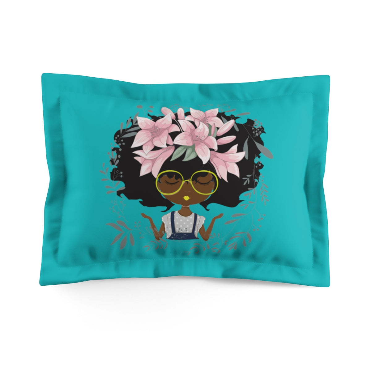 Lily Microfiber Pillow Sham-Teal