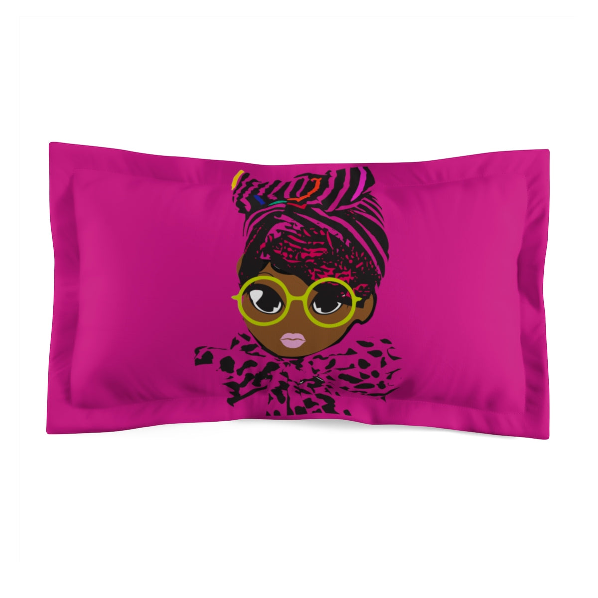 Geek Microfiber Pillow Sham-Hot Pink