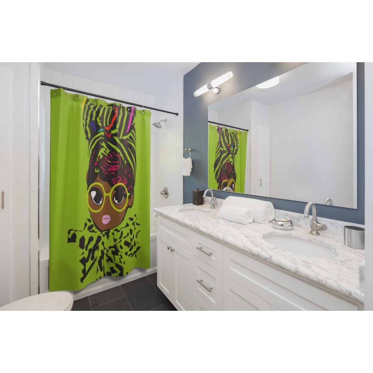 Geek Shower Curtains-Green