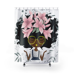 Lily Shower Curtains-White