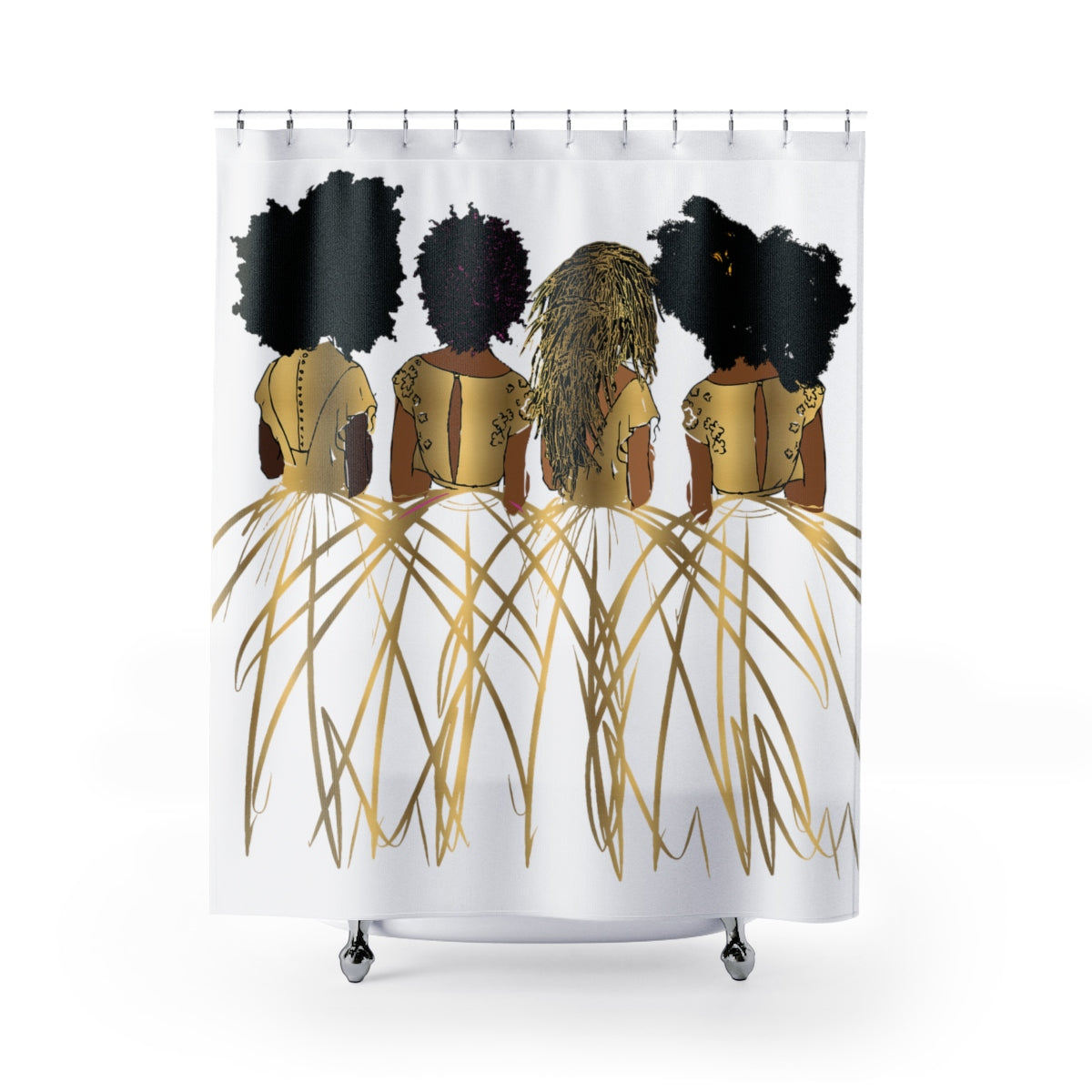 Royal Shower Curtains-White