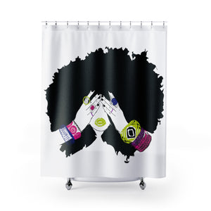Chanel Shower Curtains-White