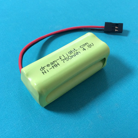 4.8V NiMH 750mAh Rx Battery  (Weasel-TREK)