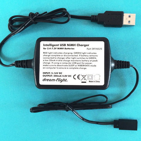Intelligent USB NiMH Charger