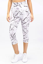 Load image into Gallery viewer, High Waist Marble 3/4 Legging