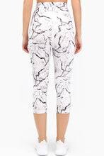 Load image into Gallery viewer, High Waist Marble 3/4 Leggings