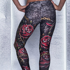Labella Mafia Roses and Chains Legging - Fashion Brazil