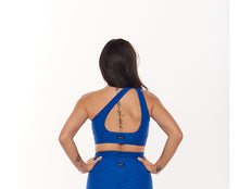 Load image into Gallery viewer, Royal Blue Textured 3 in 1 Sports Bra - Fashion Brazil