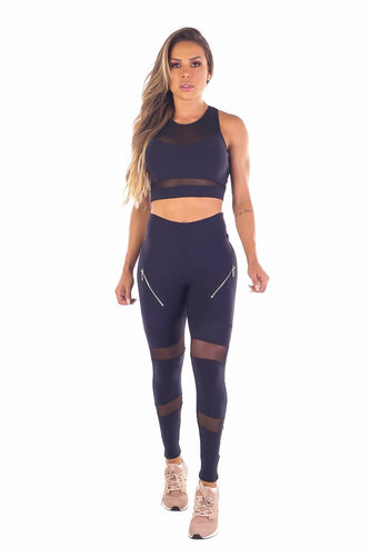 Hype Mesh Leggings - Fashion Brazil