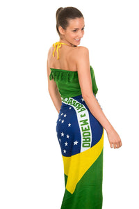 Brazil Flag Sarong - Fashion Brazil