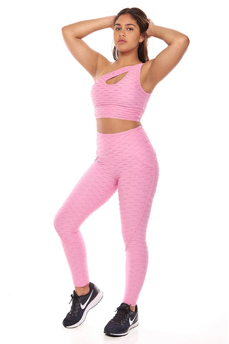Pink Booty Lift Leggings - Fashion Brazil