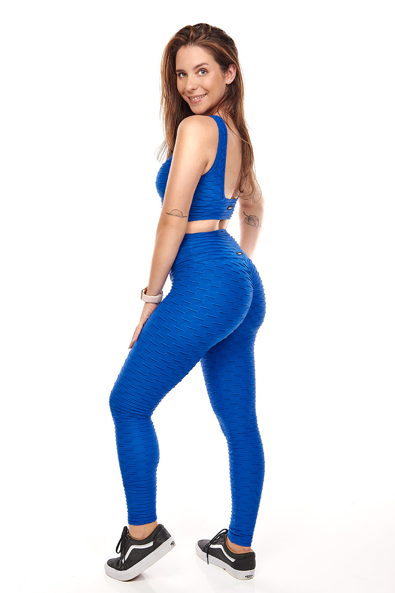 Royal Scrunch Booty Leggings - Fashion Brazil