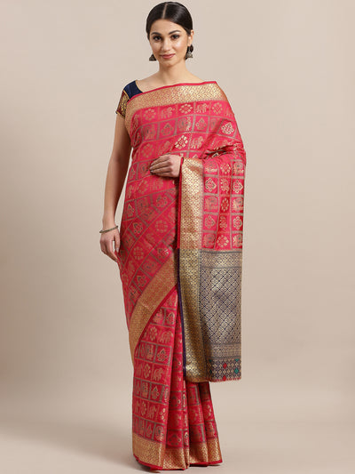 Chhabra 555 Gharchola Banarasi Silk saree with Meenakari/ Ethnic Peacock Motifs and heavy Blouse