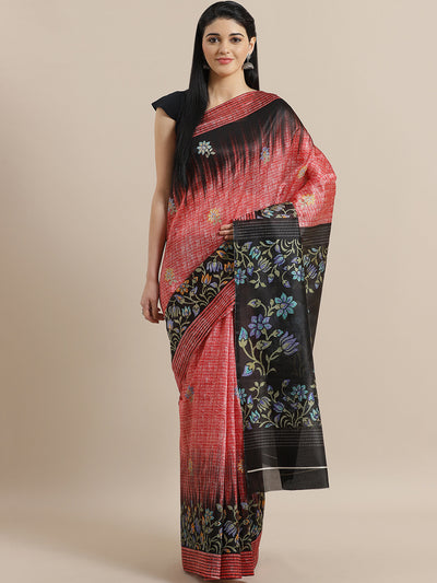 Chhabra 555 French Silk printed Saree with Lotus Floral Two Toned Digital Design