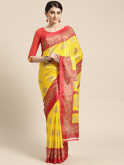 Chhabra 555 French Crepe SIlk printed Saree with Colorblocking Ethnic Peacock Digital design