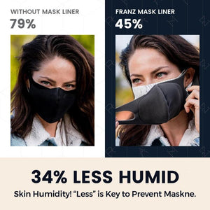 Skin Saver Maskne Prevention Antimicrobial, Washable and Cooling Mask Liner Franz Skincare USA