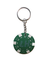 LIAM HODGES- CHIP KEYRING  GREEN