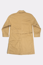TAN CREASED JERSEY COAT