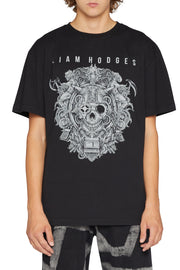 LIAM HODGES - CYBER METAL TEE  BLACK