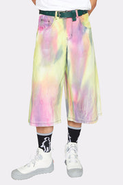 SPRAY DYED DENIM SHORTS