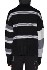 LIAM HODGES - BROKEN STRIPE CREWNECK BLACK