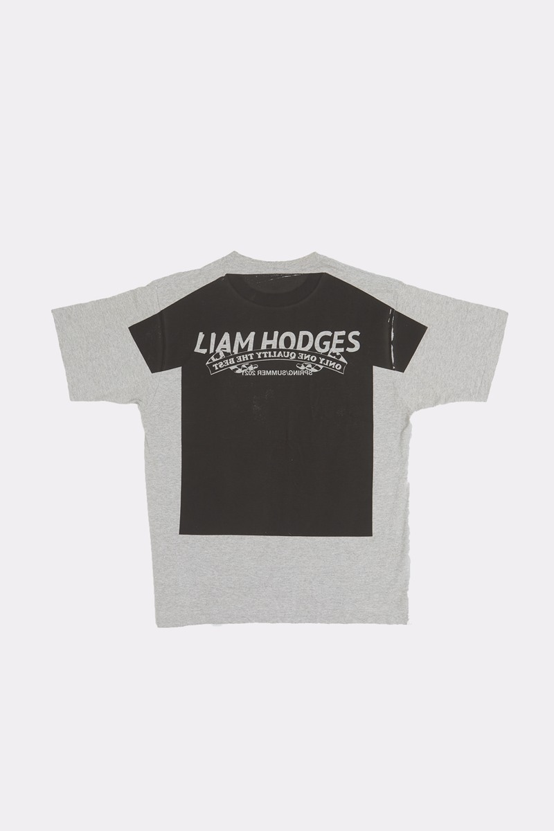 LIAM HODGES, LIAM HODGES MENSWEAR, MADE IN THE UK, LIAM HODGES UK, LONDON DESIGNER, LONDON MENSWEAR, SPRING SUMMER 2021, SS21, LUXURY STREETWEAR, LIAM HODGES NEW LOGO TEE, NEW LOGO TEE, NEW LOGO T-SHIRT, LIAM HODGES TEE, LIAM HODGES T-SHIRT, LIAM HODGES TEE, T-SHIRT, GRAPHIC T-SHIRT, STREETWEAR TEE, STREETWEAR T-SHIRT, MENSWEAR TEE, MENSWEAR T-SHIRT, MENS STREETWEAR, UK T-SHIRT, UK TEE, LUXURY T-SHIRT, VINTAGE GRAPHIC TEE, VINTAGE TEE, LUXURY GRAPHIC T-SHIRT, OVERPRINT, OVERPRINT T-SHIRT