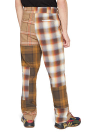 PATCHWORK CIGAR TROUSERS TAN