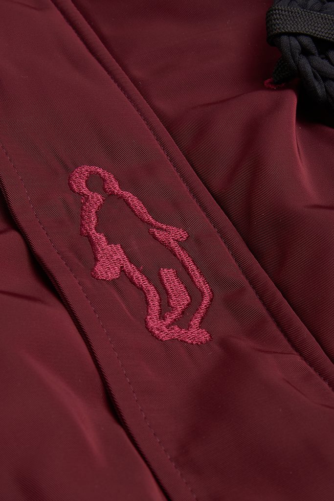 BURGUNDY CROCHET BOMBER - Liam Hodges LTD