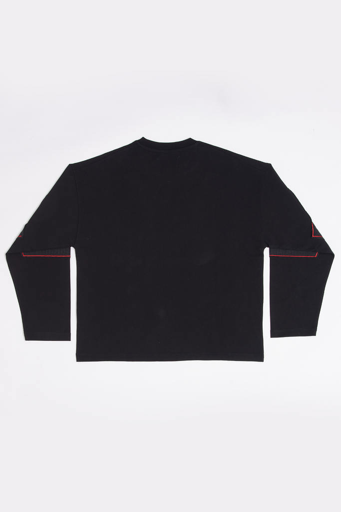 BLACK SHREDDED LONG SLEEVE - LARGE - Liam Hodges