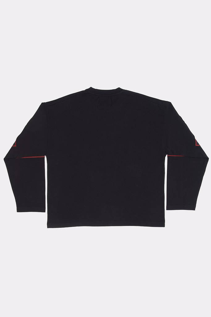 BLACK SHREDDED LONG SLEEVE - XL - Liam Hodges