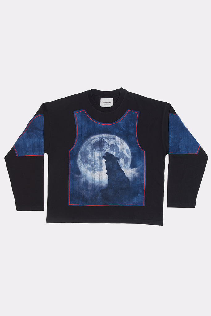 BLACK SHREDDED LONG SLEEVE - XXL - Liam Hodges