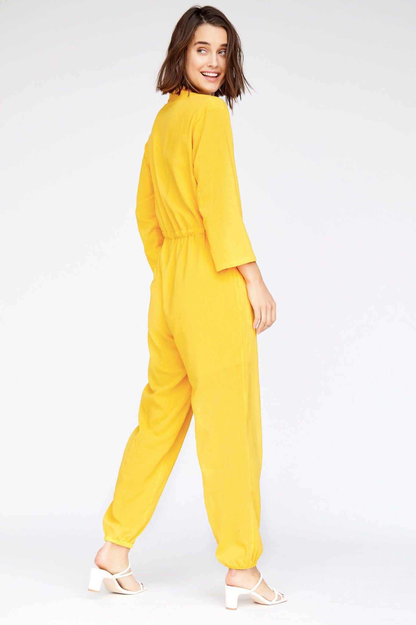 Patti Jumpsuit - Canary Yellow
