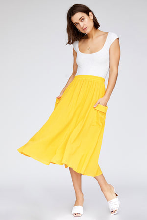 Bridgette Skirt - Canary Yellow